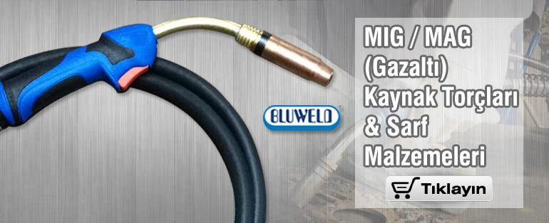BLUWELD MIG/MAG Kaynak Torçları ve Sarf Malzemeleri